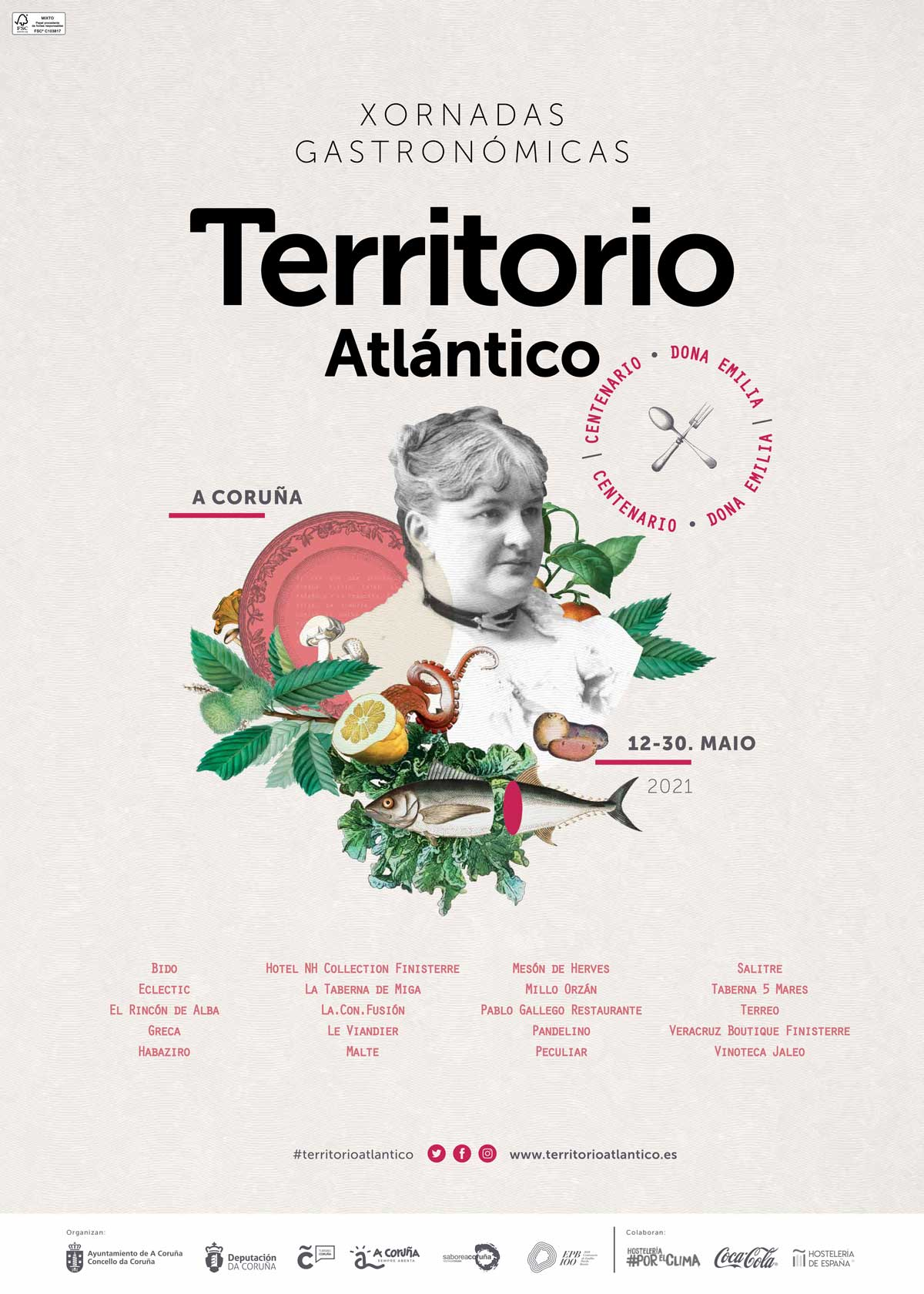 Cartel Jornadas Gastronómicas Territorio Atlántico